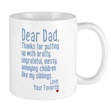 Dear Dad, Thanks For (siblings Version) Mug Mugs