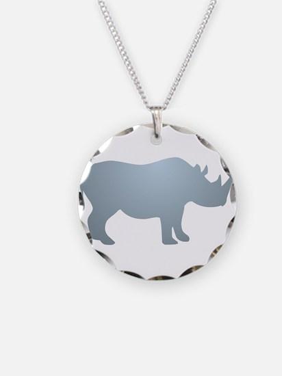 Rhinoceros Rhino Necklace Circle Charm