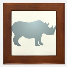 Rhinoceros Rhino Framed Tile