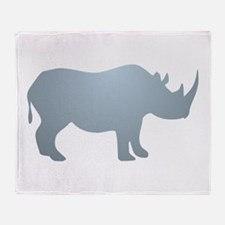 Rhinoceros Rhino Throw Blanket