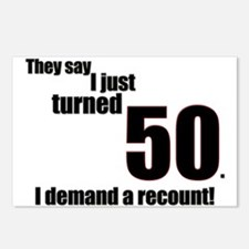 They say I just turned 50... Postcards (Package of
