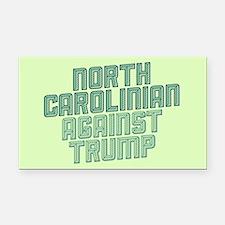 North Carolinian Against Trump Rectangle Car Magne