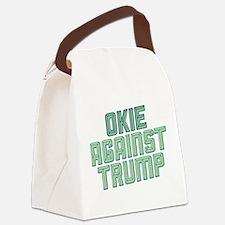 Okie Against Trump Canvas Lunch Bag