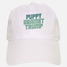 Puppy Against Trump Baseball Baseball Baseball Cap