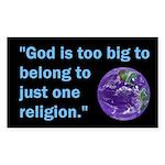 Big God I Rectangle Sticker