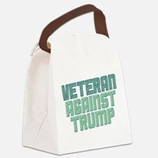 Veteran Against Trump Canvas Lunch Bag