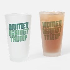 Women Against Trump Drinking Glass