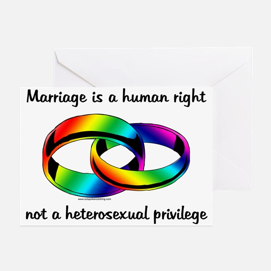 Marriage is a Human Right Greeting Cards (Package