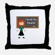 I Love To Teach Throw Pillow