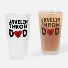 Javelin Throw Dad Drinking Glass