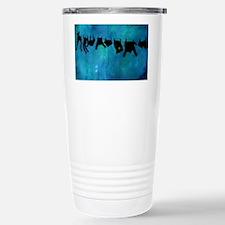 Clothesline silhouette Travel Mug