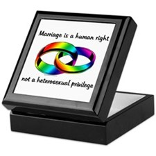 Marriage is a Human Right Keepsake Box