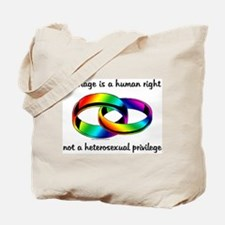 Marriage is a Human Right Tote Bag