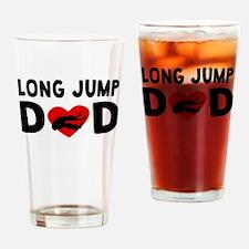 Long Jump Dad Drinking Glass