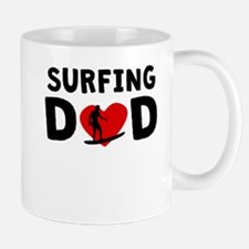 Surfing Dad Mugs