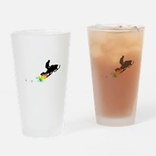 rainbow powder trail snowmobile Drinking Glass