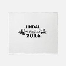 JINDAL FOR PRESIDENT 2016 Throw Blanket
