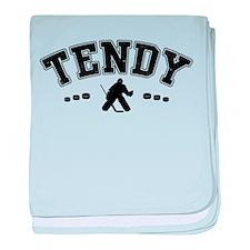 Tendy, Hockey Goalie Slang baby blanket
