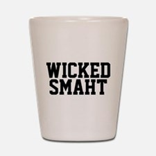 Wicked smaht funny Boston accent Shot Glass