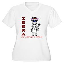 Zebra Spirit Plus Size T-Shirt