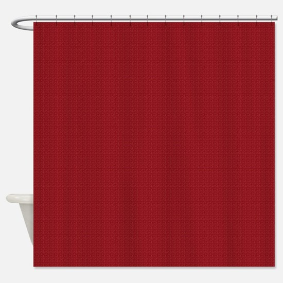 Solid Maroon Shower Curtain