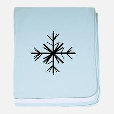 Christmas Winter Snowflake: Black baby blanket
