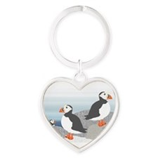 Unique Arctic Heart Keychain