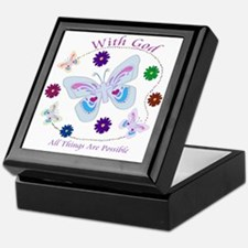 With God All Things Are Possible Keepsake Box