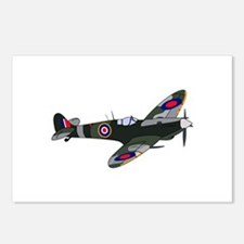 SPITFIRE PLANE LARGE Postcards (Package of 8)