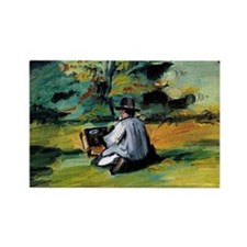 Cezanne - A Painter at Work Rectangle Magnet