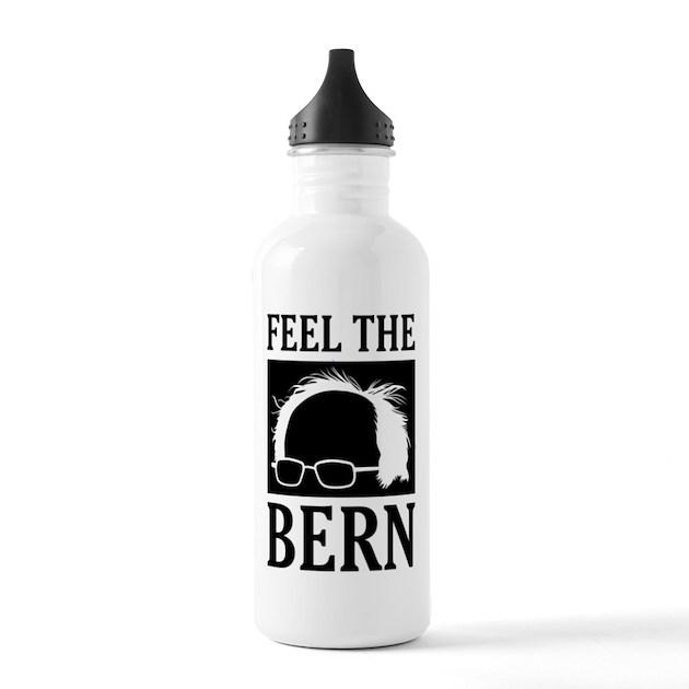 Water Bottle Hair: Feel The Bern [Hair] Water Bottle By Tshirtjournal