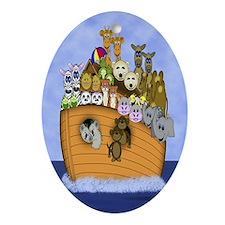 Noah's Ark Oval Ornament