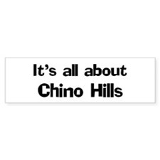 About Chino Hills Bumper Bumper Sticker