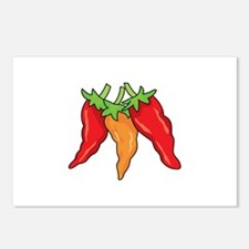 Hot Peppers Postcards (Package of 8)