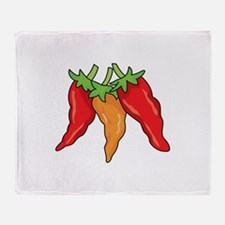 Hot Peppers Throw Blanket
