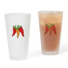 Hot Peppers Drinking Glass