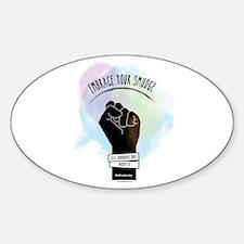 Smudge Black Sticker (oval)