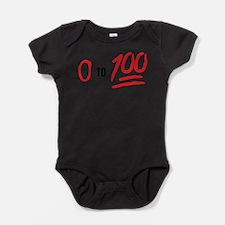 0 to 100 Baby Bodysuit