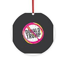 Anti Trump Round Ornament