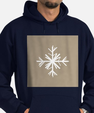 Christmas Woodland Winter Snowflake Hoodie (dark)