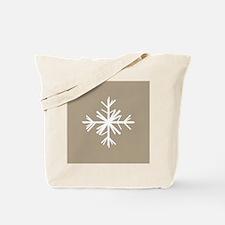 Christmas Woodland Winter Snowflake Tote Bag