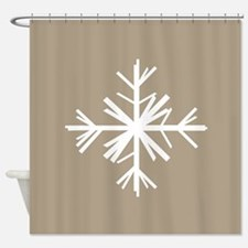 Christmas Woodland Winter Snowflake Shower Curtain