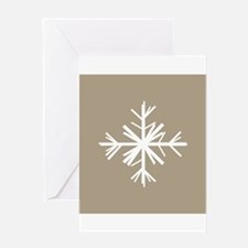 Christmas Woodland Winter Snowflake Greeting Card