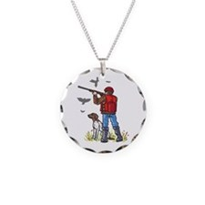 DOVE HUNTER AND DOG Necklace