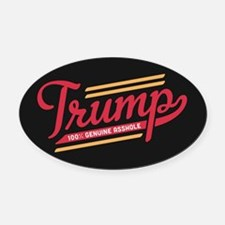 Trump Genuine Asshole Oval Car Magnet