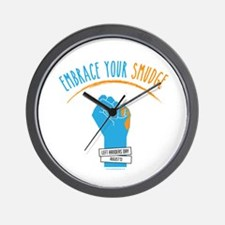 Smudge Blue Wall Clock