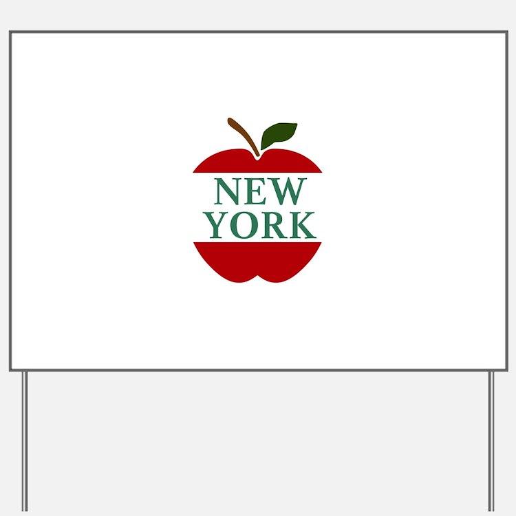 NEW YORK BIG APPLE Yard Sign