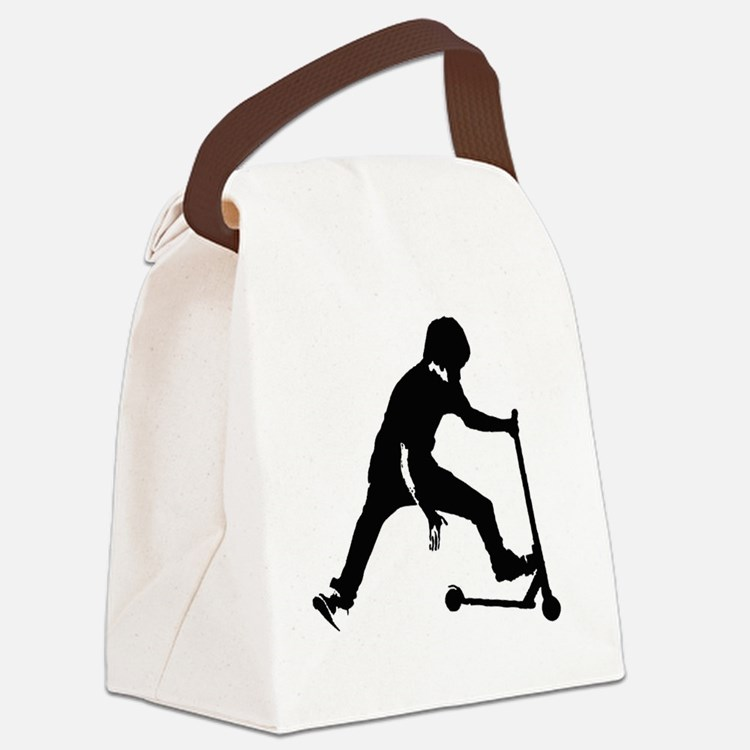 Cute Scooter Canvas Lunch Bag