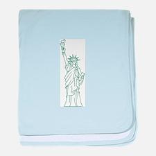 STATUE OF LIBERTY baby blanket