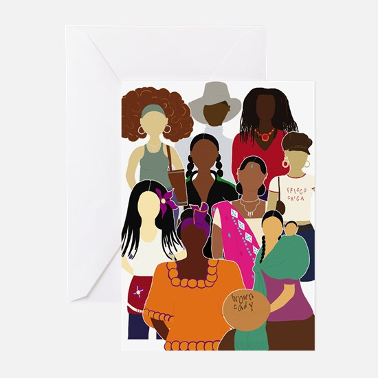 Unique Ethnic woman Greeting Cards (Pk of 20)